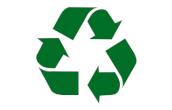 """Symbol """"Nadaje się do recyklingu""""."""
