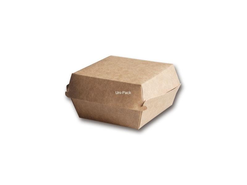 1 HIT CENOWY! Pudełko kartonowe na hamburgera duże 115x115x70 mm