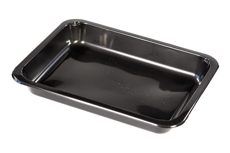 5 HIT CENOWY! Pojemnik obiadowy niedzielony czarny PP 227x178x30 mm