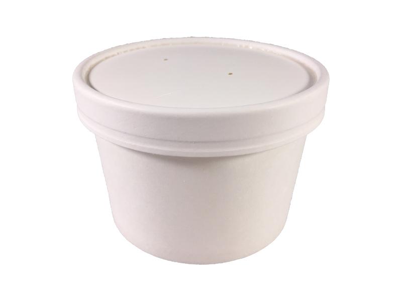 3 HIT CENOWY! Pojemnik papierowy biały na zupę 8oz śr. 95 mm 230/260 ml
