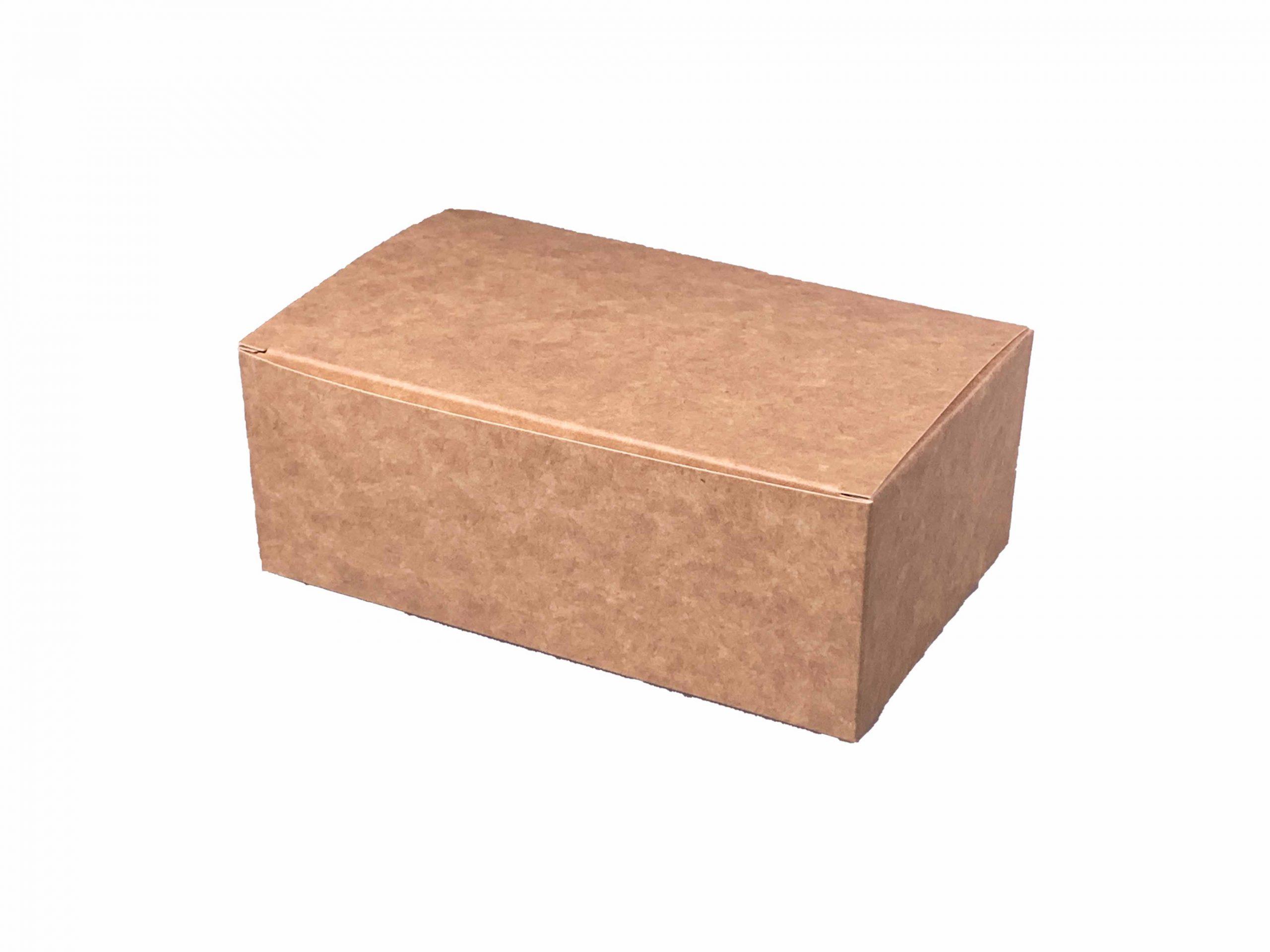 1 HIT CENOWY! Pudełko kartonowe na kurczaka małe biało-brązowe składane 160x100x60 mm