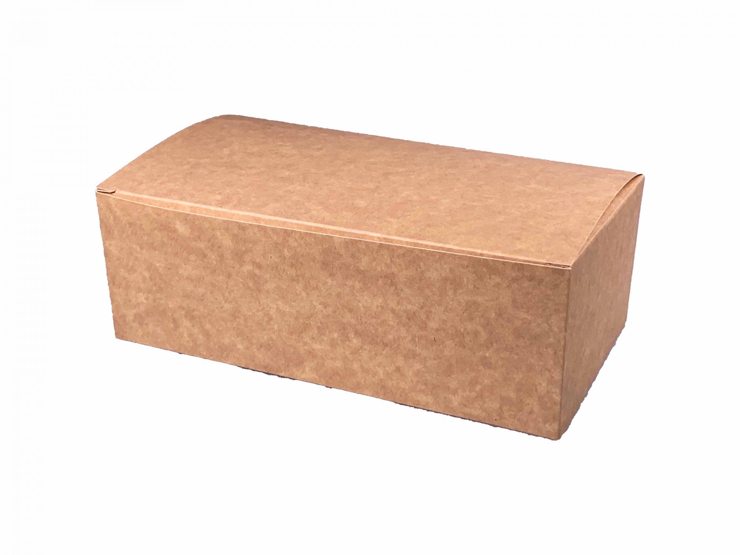 1 HIT CENOWY! Pudełko kartonowe na kurczaka duże biało-brązowe 220x120x75 mm