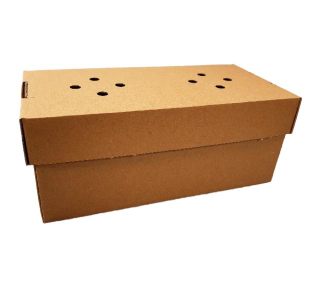! NOWOŚĆ - Pudełko burger zestaw rozkładane brązowe 122x240x100 mm