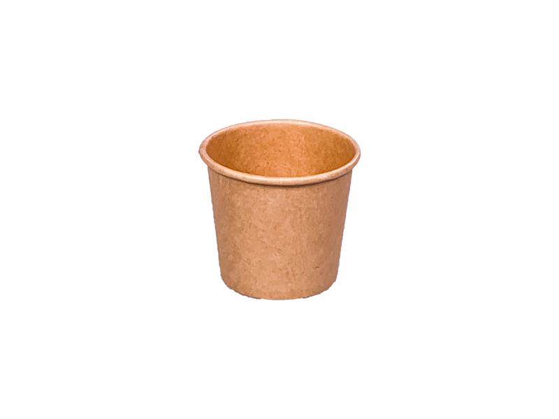 ! - NOWOŚĆ - ! Pojemnik papierowy kraft do sosów 30ml śr. 44 mm