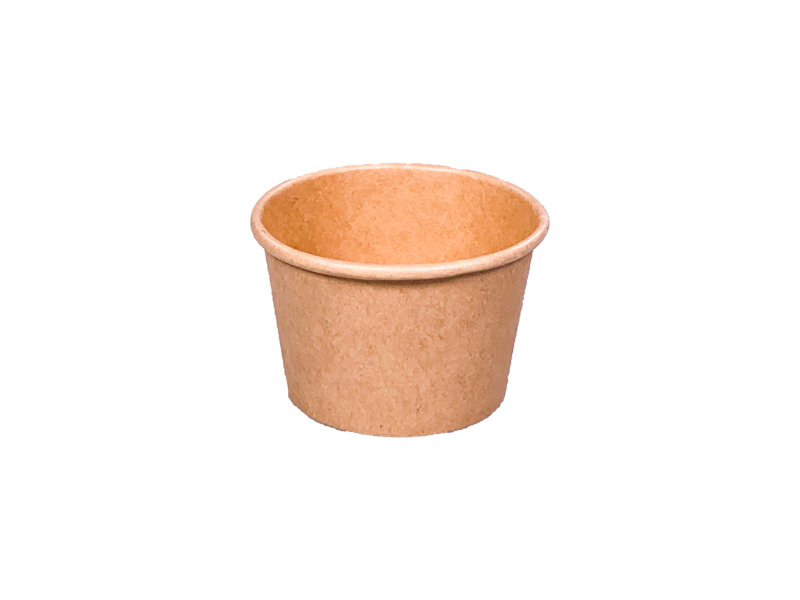 ! - NOWOŚĆ - ! Pojemnik papierowy kraft do sosów 60ml śr. 62 mm