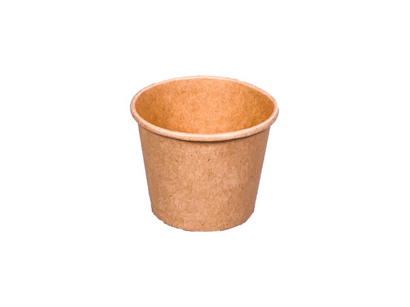 ! - NOWOŚĆ - ! Pojemnik papierowy kraft do sosów 90ml śr. 62 mm