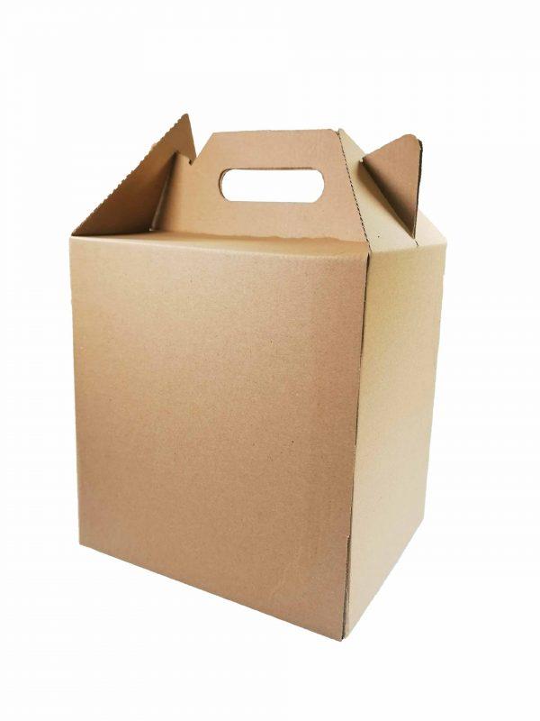Pudełko cateringowe z uchwytem DIETA BOX na zestawy obiadowe 23x19x23/31 cm