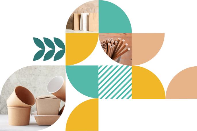 Zdjęcie z produktami w różnych kształtach